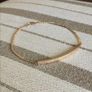 """Jewelry - Solid 14k Vintage Signet ID Bracelet 7.25"""" Long"""